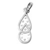 0.09 Carat VS Diamond Pendant In 18K white Gold