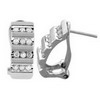 0.50 Carat White Diamond Earrings 10k White Gold