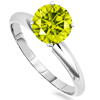 0.50 Carats Canary Diamond Ring in 14k Dualtone Gold