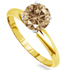 2 Carat Champagne Diamond Ring in 14k Gold
