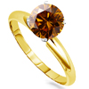 1.50 Carat Cognac Red Diamond Ring in 14k Gold