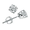 0.75 Carat SI1/SI2 Diamond Earrings In 14K Gold