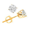 0.85 Carat SI2/I1 Diamond Earrings In 14K Yellow Gold