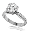 1.37 Ct twt VVS Diamond Ring in Platinum