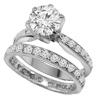 2.05 ct twt VS Diamond Wedding Set