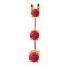 1 Ct Twt. Three Stone Ruby Pendant 14k Gold