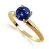 0.25 Carat Tanzanite Solitaire Ring in 14k White or Yellow Gold