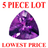 5 mm Trillion Checker Board Cut Amethyst 5 piece Lot