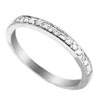 0.14 ct VS Diamond Band in 18k White Gold