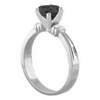 1 Carat AAA Black Diamond Engagement Ring in 18k Gold