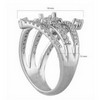 1.20 ct VS Diamond Semi Mounting 18K White Gold