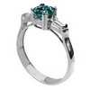 1.38 Carats Blue VS Diamond Ring in 18k White Gold