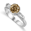 1.38 Ct Twt Champagne VS Diamond Ring in 18k Gold