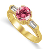 1.08 Ct Twt Pink VS Diamond Ring in 18k Gold