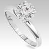 0.76 Carat White Diamond Ring in 14k White Gold