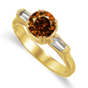 1.38 Ct Twt Cognac VS Diamond Ring in 18k Gold