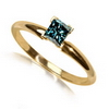 0.35 Carats Blue Diamond Ring in 14k Gold