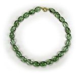 Green Amethyst Prasiolite Beaded Sterling Silver 18 Inch Necklac