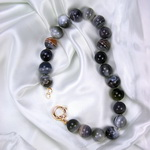 Rainbow Agate Beaded Sterling Silver 18 Inch Necklace