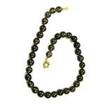 Smoky Quartz Beaded Sterling Silver 18 Inch Necklace