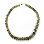 Rutilated Quartz Beaded Sterling Silver 18 Inch Necklace