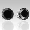 0.50 Ct Twt Black Diamond Stud Earrings in Sterling Silver