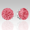 0.75 Ct Twt Pink Diamond Earrings in 14k white or Yellow Gold