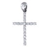 0.25 ct VS Diamond Cross Pendant in 18k White Gold