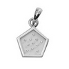0.09 ct. VS Diamond Pendant in 18K Gold