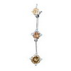 0.30 Ct Champagne Pink Diamond Pendant in 18K White Gold