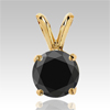 0.25 Cts. Black Diamond Pendant in 14k Gold