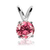 0.50 Cts. Pink Diamond Pendant in 14k Gold