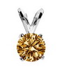 1 Carat Champagne Diamond Pendant in 14k Gold