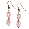 Rose Quartz Oval Beads Sterling Silver 11x9 mm Earrings