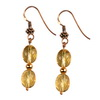 Golden Citrine Oval Beads Sterling Silver 10x8 mm Earrings