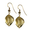 Citrine Faceted Nugget Sterling Silver 21x14 mm Earrings