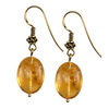 Golden Citrine Oval Sterling Silver 18x13 mm Earrings