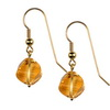Golden Citrine Fancy Flower Cut Sterling Silver 12 mm Earrings