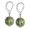 Green Amethyst Round Sterling Silver 12 mm Earrings