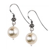 Cultured Grey Pearl Round Sterling Silver 10mm Earrings