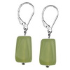 Jade Nugget Sterling Silver 15 mm Earrings
