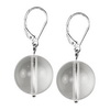 Rock Crystal Round Sterling Silver 16 mm Earrings