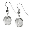 Rock Crystal Oval Drop Sterling Silver 15x13 mm Earrings