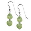 Prehnite Drop Sterling Silver 12x11 mm Earrings