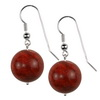 Flex Coral Round Sterling Silver 18 mm Earrings