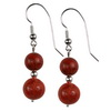 Flex Coral Round Sterling Silver 10/12 mm Earrings