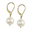 Cultured Pearl 10 mm Round Sterling Silver Earrings