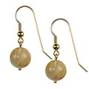 Rutilated Quartz Round Sterling Silver 12 mm Earrings
