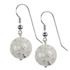 Cracked Quartz Round Sterling Silver 16 mm Earrings