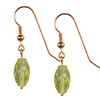 Green Gold Lemon Citrine Faceted Drop Silver 14x8 mm Earrings